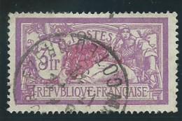 FRANCE: Obl., N° YT 240, Lilas Et Carmin, TB - 1900-27 Merson