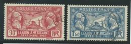 FRANCE: Obl., N° YT 244 Et 245, Tb Centrés, TB - Gebraucht