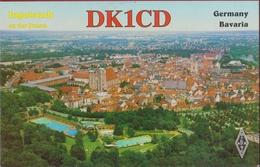 QSL Card Amateur Radio Funkkarte German Germany Deutschland Bavaria Ingolstadt An Der Donau - Radio Amatoriale