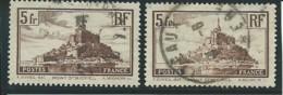 FRANCE: Obl., N° YT 260 Et 260a, Brun, I Et II, TB - Used Stamps
