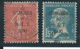 FRANCE: Obl., N° YT 264 Et 265, B.I.T., TB - Gebraucht
