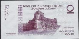 HAITI  P272f  10  GOURDES   2014  New Date 2014  UNC. - Haiti