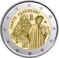 Italy. 2 Euro. Dante Alighieri. UNC. 2015 - Italy