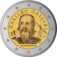 Italy. 2 Euro. Galileo Galilei. UNC. 2014 - Italie