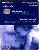 MALTA - Middle Sea Valletta Life Insurance, C83123252, 04/98, Used - Malte