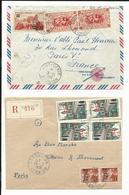 Réunion - Magnifique Lot De 31 Lettres Période CFA (tarifs, Timbres, Affranchissements, Oblitérations.......)  16 Scans - Marcophilie (Lettres)