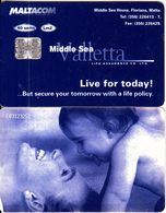 MALTA - Middle Sea Valletta Life Insurance, C83123251, 04/98, Used - Malta
