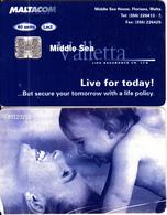 MALTA - Middle Sea Valletta Life Insurance, C83123250, 04/98, Used - Malta