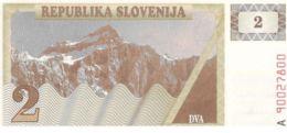 Slovenia. Banknote. 2 Tolars. Mountains. UNC - Slovenia