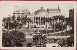 Bresil Brazil Brasil Sao Paulo Theatro Municipal Photo Card Brazilie (In Very Good Condition) - São Paulo