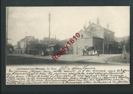 Jemeppe Sur Meuse.  Passage à Niveau,  Gare. Calèche, Voyageurs. Circulé En 1903. Voir Dos. - Seraing