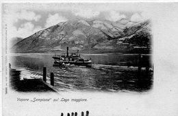 """TRANSPORTS 366 : Précurseur Vapore  """" Sempione """" Sul Lago Maggiore , édit. A G Zurich N° 13080 - Ferries"""