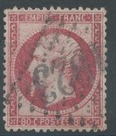 Lot N°49975  Variété/n°24a Rose Foncé, Oblit GC 1023 Chouzé, Indre-et-Loir (36), Ind 9, Impréssion Dépouillée - 1862 Napoleone III