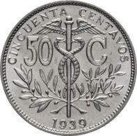 Bolivia. Coin. 50 Centavo. 1939. VF / XF - Bolivia