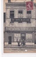"""RARE  (61) MORTAGNE . Place Des Halles . Magasin """"AU BON MARCHE """" Nouveautés Confections Maison GATE (Beau Plan) - Mortagne Au Perche"""