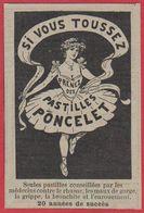 Pastilles Poncelet. Si Vous Toussez Prenez Des Pastilles Poncelet. Danseuse. 1910. - Publicités