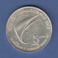 Tunesien Silbermünze 1976 20 Jahre Unabhängigkeit 1956-1976  - Münzen
