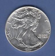 USA American Silver Eagle Walking Liberty 1987  1Unze = 31,10g Ag999 - Ohne Zuordnung
