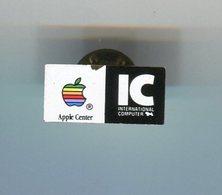 Pin's - APPLE Pomme - IC International Computer - Informatique - Informatique