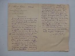 Ecole Arbalete-Lyonnais Paris 5, Let Autographe Architecte A. Julien Vers 1920 ? ; PAP02 - Autografi