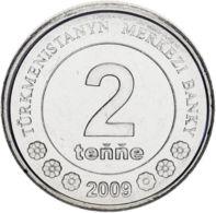 Turkmenistan 2 Tenge 2009 UNC - Turkmenistan