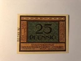 Allemagne Notgeld Ansbach 25 Pfennig - Collections