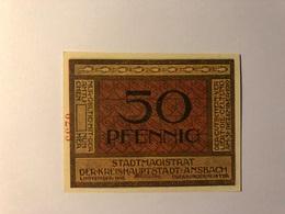 Allemagne Notgeld Ansbach 50 Pfennig - Collections