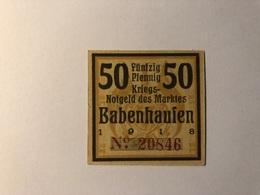Allemagne Notgeld Babenhausen 50 Pfennig - Collections