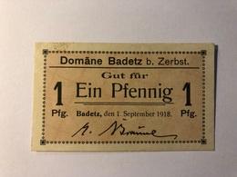 Allemagne Notgeld Badetz 1 Pfennig - Collections