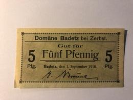 Allemagne Notgeld Badetz 5 Pfennig - Collections