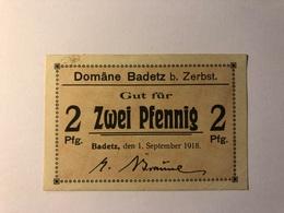 Allemagne Notgeld Badetz 2 Pfennig - Collections