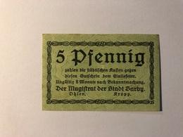 Allemagne Notgeld Barby 5 Pfennig - Collections