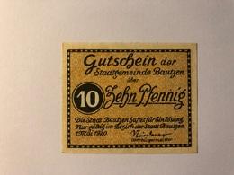 Allemagne Notgeld Bautzen 10 Pfennig - Collections