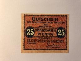Allemagne Notgeld Bautzen 25 Pfennig - Collections