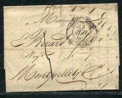 Frankreich / 1833 / Vorphila-Brief Nach Montpellier (18598) - 1801-1848: Précurseurs XIX