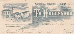 Facture 1903 / TH HUGUENARD / Moulin De Luxeuil 70 / Pour Demange 88 Val D'Ajol - France