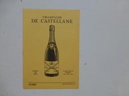 Champagne DE CASTELLANE, Dépliant Tarifs 1953  ; PAP02 - Werbung