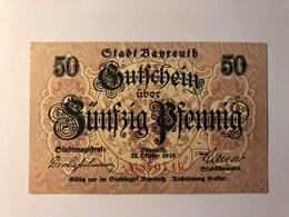 Allemagne Notgeld Bayreuth 50 Pfennig - Collections