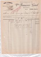30-Vve F.Gard...Grains & Fourrages, Engrais..Uzès..(Gard)..1929 - Agriculture