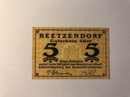 Allemagne Notgeld Beetzendorf 5 Pfennig - Collections