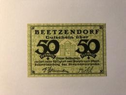 Allemagne Notgeld Beetzendorf 50 Pfennig - Collections