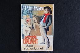 Z 77 / Dessin - Signés, Trebor - La Belle Epoque - Mirliton, Aristide Bruant Dans Son Cabaret . - Illustrateurs & Photographes