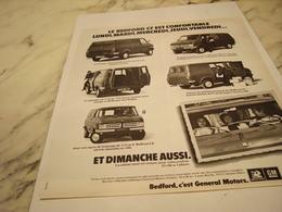 ANCIENNE PUBLICITE BEDFORD CAMION C EST GENERAL MOTORS  1975 - Trucks