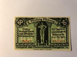 Allemagne Notgeld Belgern 50 Pfennig - Collections
