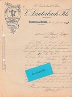 Facture 1902 / V. LAUTERBACH / Fonderie Cuivre & Bronze / 70 Luxeuil - France