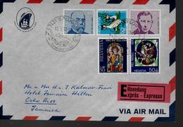 SUISSE Lettre 1972 Oiseaux Vitraux Koch - Verres & Vitraux