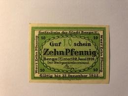 Allemagne Notgeld Berga 10 Pfennig - Collections