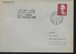 SUISSE Lettre 1958 Sion Physique Leonard Euler - Physique
