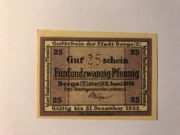 Allemagne Notgeld Berga 25 Pfennig - Collections