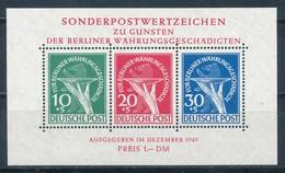 Berlin Block 1 Plattenfehler III ** Neuester Fotobefund Schlegel Mi. 2500,- - Ungebraucht